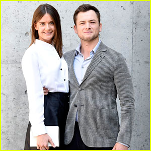 Taron Egerton & Girlfriend Emily Thomas Couple Up at Armani Show in Italy!