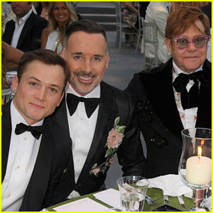 Taron Egerton Joins Elton John at the Singer's Charity Event!