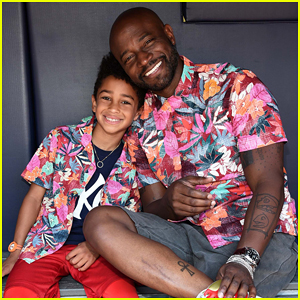 Taye Diggs Celebrates Father's Day with Son Walker at Yankees Game!