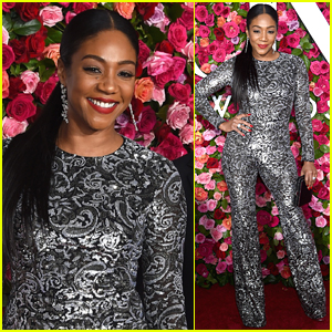 Tiffany Haddish Shines in Silver Jumpsuit at Tony Awards 2018!