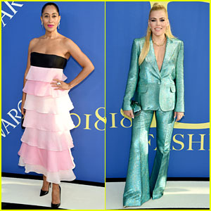Tracee Ellis Ross & Busy Philipps Add Color to CFDA Fashion Awards Carpet!