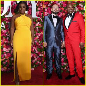 Uzo Aduba & Tituss Burgess Hit the Red Carpet at Tony Awards 2018!