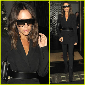 Victoria Beckham Rocks Sunglasses at Night in London