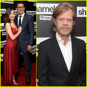 William H. Macy Joins Emmy Rossum & Sam Esmail at 'Shameless' 100-Episode Celebration