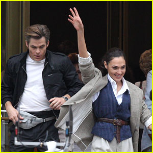 Wonder Woman's Gal Gadot Hails Cab for Scene with Chris Pine - New Set Photos!