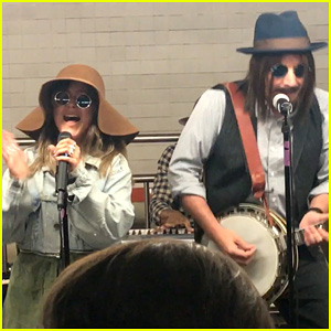Christina Aguilera & Jimmy Fallon Perform in Disguise in NYC Subway Terminal - Watch!
