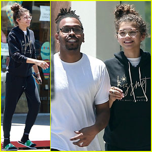 Zendaya is All Smiles While Shopping With Her Assistant Darnell Appling