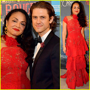 Aaron Tveit & Karen Olivo Celebrate 'Moulin Rouge' Gala Performance in Boston!