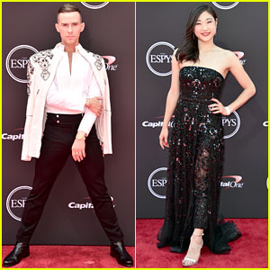 Adam Rippon & Mirai Nagasu Make a Stylish ESPYs 2018 Red Carpet Arrival