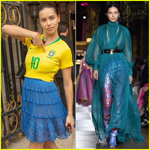 Adriana Lima Reps Brazil After Schiaparelli Paris Fashion Show!