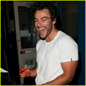 Aidan Turner Laughs with Fans After His West End Performance
