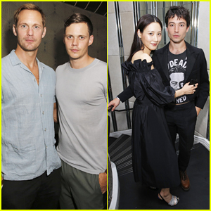 Alexander Skarsgard Joins Brother Bill & Ezra Miller at Flaunt x Ermenegildo Zegna Party!