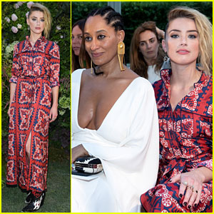 Amber Heard & Tracee Ellis Ross Sit Front Row for Valentino's Paris Show