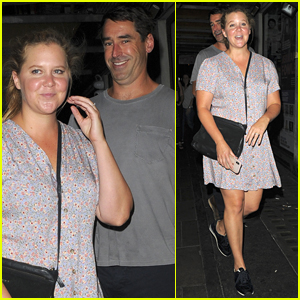 Amy Schumer is Joined by Husband Chris Fischer at Comedy Gig in London!