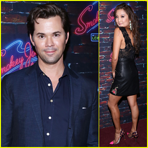 Andrew Rannells Shows Support for 'Smokey Joe's Cafe' Off-Broadway Opening Night!