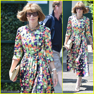 Anna Wintour Strikes a Fashionable Pose at Wimbledon 2018!