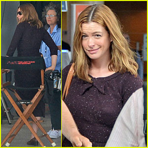 Anne Hathaway Films 'The Last Thing He Wanted' in San Juan