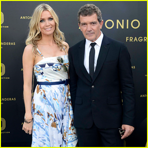 Antonio Banderas Gets Support from Girlfriend Nicole Kimpel at Fragances Party!