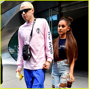 Ariana Grande & Pete Davidson Step Out Ahead of Her Amazon Music Unboxing Prime Day Concert