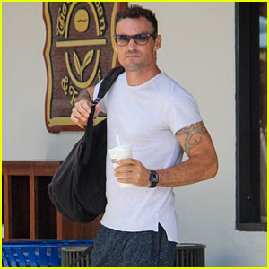 Brian Austin Green Goes on a Coffee Run in Malibu!