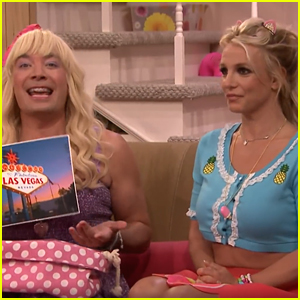 Britney Spears Makes Surprise Appearace on Jimmy Fallon's 'EW' - Watch Now!