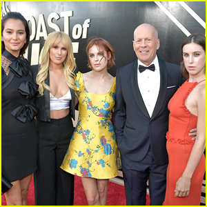 Bruce Willis is Supported by Wife & Daughters at His Comedy Central Roast!