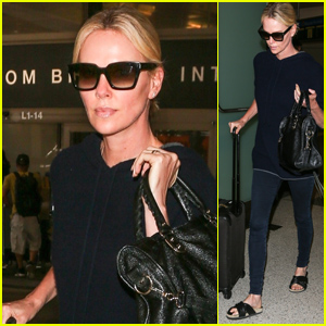 Charlize Theron Returns to LA After Attending International AIDS Conference
