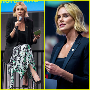 Charlize Theron Gives Speech at International AIDS Conference in Amsterdam