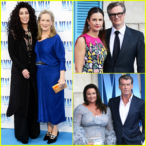 Cher & Meryl Streep Reunite at 'Mamma Mia! Here We Go Again' London World Premiere!