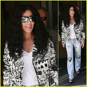 Cher Looks Fabulous While Making Her Way Out of the Chris Evans Radio Show in London!