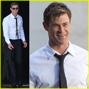 Chris Hemsworth Begins Filming 'Men in Black 4' - First Look Set Photos!