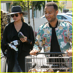 Chrissy Teigen & John Legend Load Up on Groceries Ahead of 4th of July!