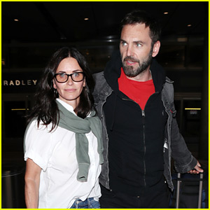 Courteney Cox & Fiance Johnny McDaid Touch Down in L.A.