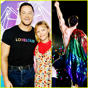 Dan Reynolds Shows Off His Pride at Loveloud Festival!