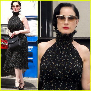 Dita Von Teese Spends the Day Shopping for Furniture in L.A.