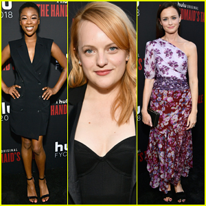 Elisabeth Moss Joins Samira Wiley & Alexis Bledel at 'The Handmaid's Tale' Finale Screening