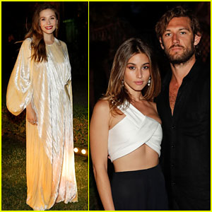 Elizabeth Olsen & Alex Pettyfer Support Designer Rosetta Getty at Dinner in Tuscany