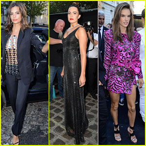Emily Ratajkowski, Mandy Moore, & Alessandra Ambrosio Attend Vogue Foundation Dinner During Paris Fashion Week