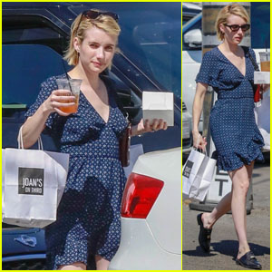 Emma Roberts Heads Out for a Food Run in LA!