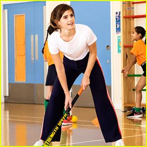 Emma Watson Surprises Schoolchildren for a Hockey Session!