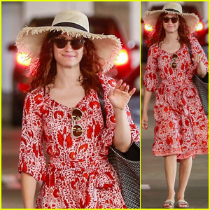 Emmy Rossum Keeps It Cute in the California Heat Wave!