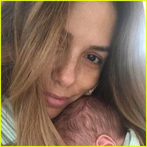 Eva Longoria Cuddles Up With Newborn Son Santiago