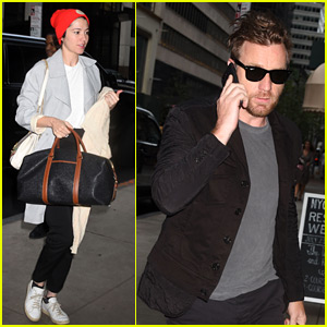 Ewan McGregor & Mary Elizabeth Winstead Arrive at Their NYC Hotel Together