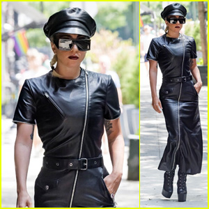 Lady Gaga Boldly Wears Black Leather on a Hot Day in New York City!