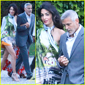 George & Amal Clooney Step Out for Dinner in Lake Como