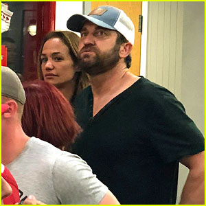 Gerard Butler & Girlfriend Morgan Brown Satisfy Their In-N-Out Cravings!