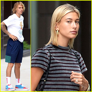 Hailey Baldwin Flashes Engagement Ring While Heading to Church with Justin Bieber
