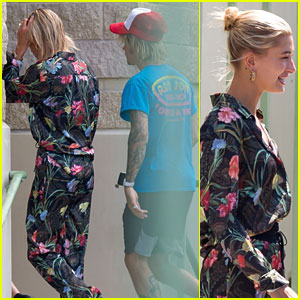 Hailey Baldwin & Justin Bieber Leave Miami After Quick Weekend Trip