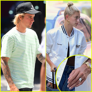 Justin Bieber & Hailey Baldwin Arrive Back in NYC After Engagement!