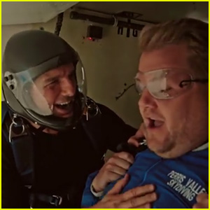 Tom Cruise Forces James Corden to Skydive on 'Late Late Show' - Watch Now!